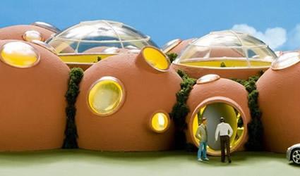 Architettura sostenibile una casa a forma di bolla for Case di architettura e design