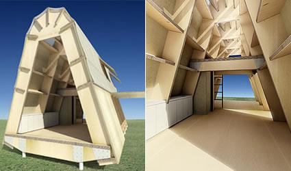 Architettura sostenibile: la casa di cartone. resistenza basso