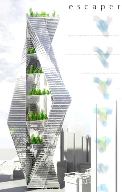 Architettura sostenibile: evolo e i grattacieli verdi. un concorso che