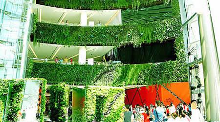 Architettura sostenibile giardini verticali avanti forme - Giardino verticale madrid ...