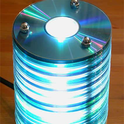 Ночник из дисков