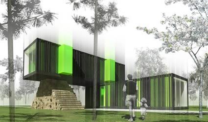 Un prefabbricato passivo e sostenibile maison evolutiv - Architettura casa moderna ...
