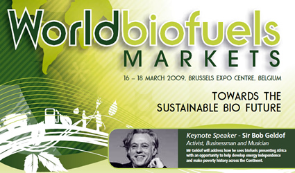 world biofuel markets 2009 forum, world biofuel markets 2009, world biofuel markets Bruxelles, biocarburanti sostenibili