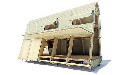 Architettura sostenibile la casa di cartone resistenza - Casette di cartone da costruire ...