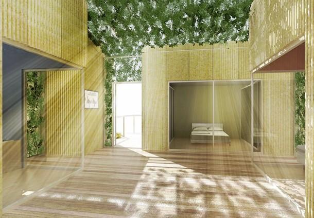 architettura sostenibile, architettura sostenibile agricoltura verticale, materiali a cambiamento di fase pcm