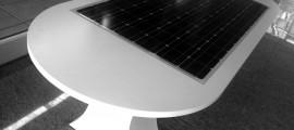 tavolo fotovoltaico, tavoli fotovoltaici, melis design, tavolo pannello fotovoltaico, fotovoltaico integrato