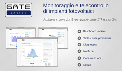 gate energy, energy monitoring, energy management, monitoraggio implant fotovoltaici, monitoraggio fotovoltaico