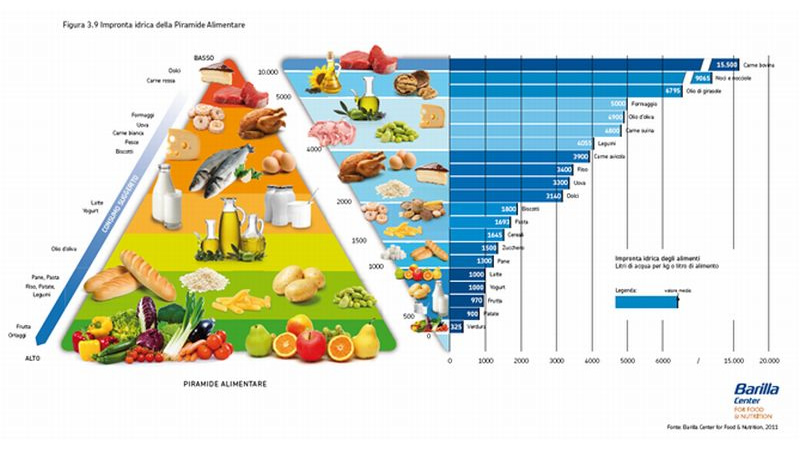 barilla center for food and nutrition, water economy, risparmio idrico, barilla center for food and nutrition water economy, impronta idrica