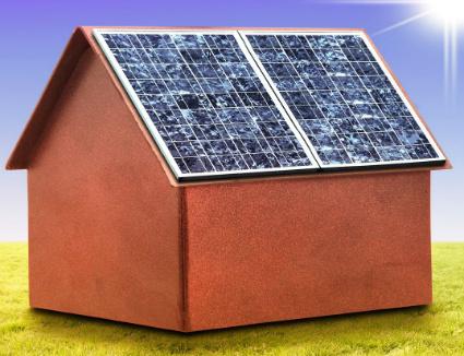 Casa isolata con tetto fotovoltaico