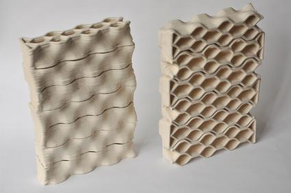 building bytes, mattoni in ceramica stampata
