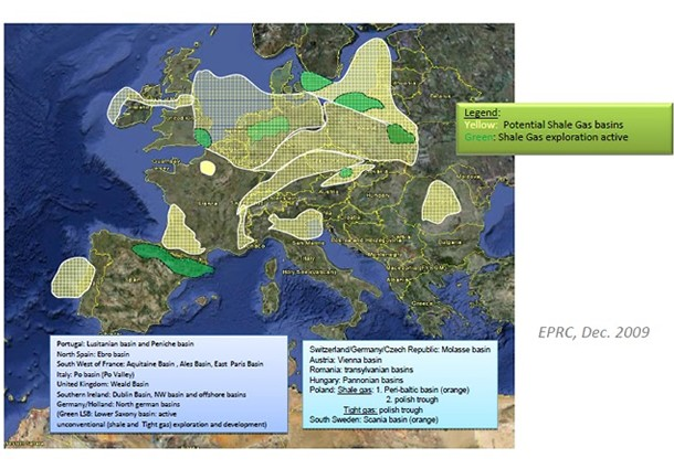 shale gas germania, germania shale gas