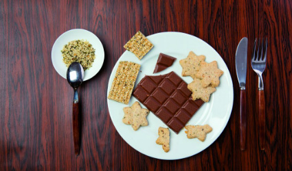 dolci canapa, cioccolata canapa, cibo canapa