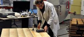 lavori nel laboratorio