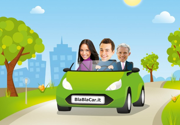 ride sharing car sharing risparmio vacanze blablacar