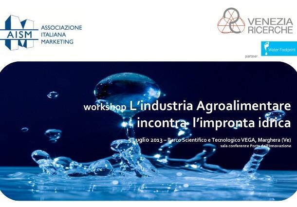 workshop agroalimentare idrica