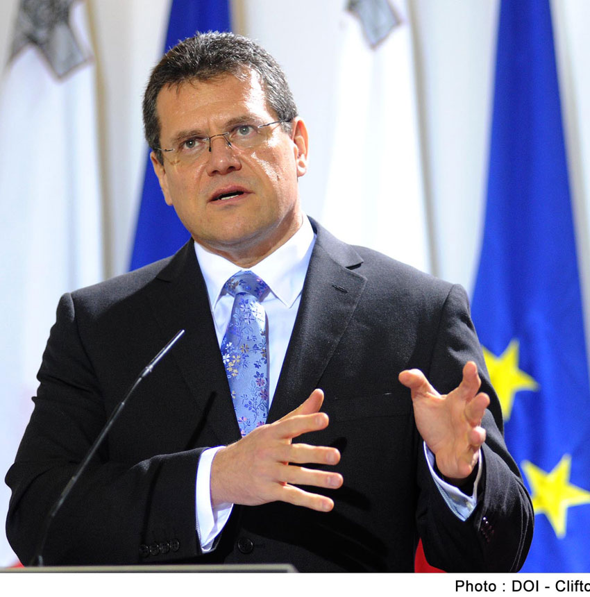 Maroš-Šefcovic, vicepresidente Ue