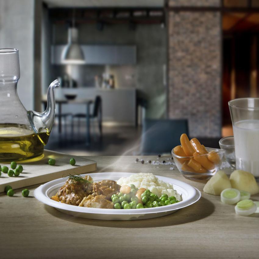Foodservice,piatto compostabile termorestistente