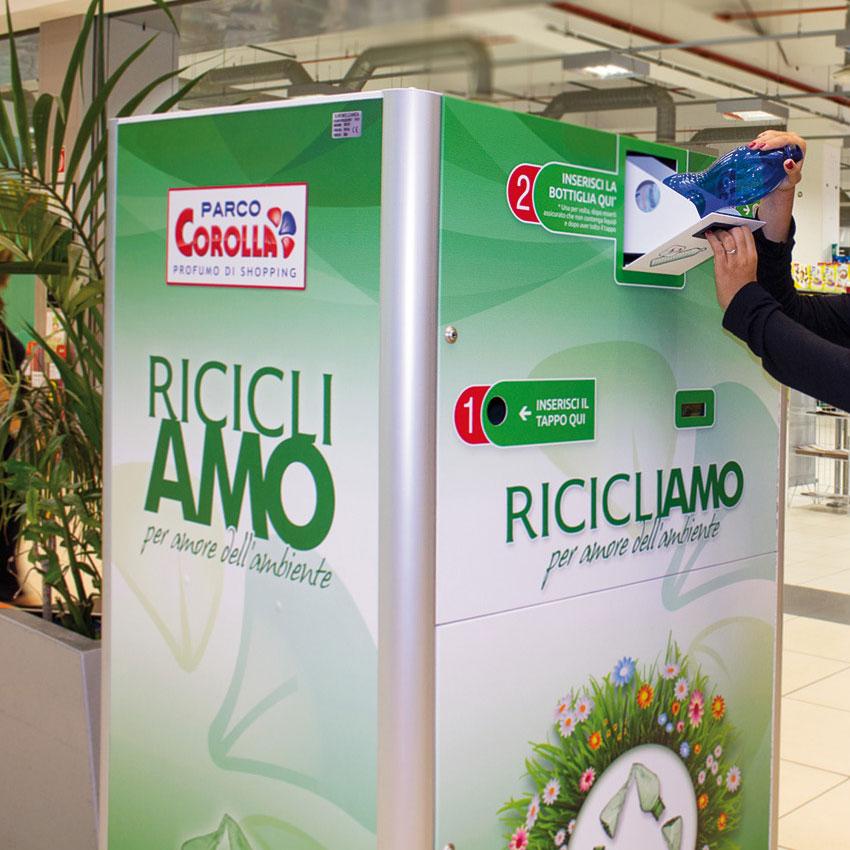 Riciclatore Incentivante, Napoli, Raccolta plastica