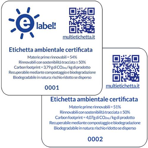 Novamont e la certificazione eLabel! per le prestazioni ambientali delle bioplastiche