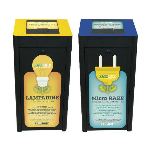 Ecolight lancia i RAEEbox per la raccolta dei rifiuti elettronici in negozio